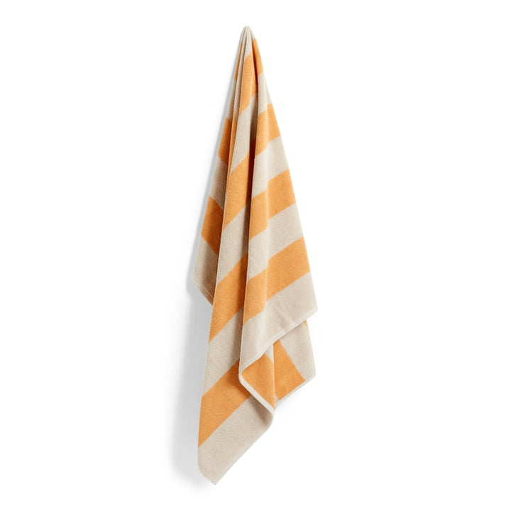 Frotté Stripe Bath towel, 100 x 150 cm, warm yellow from Hay
