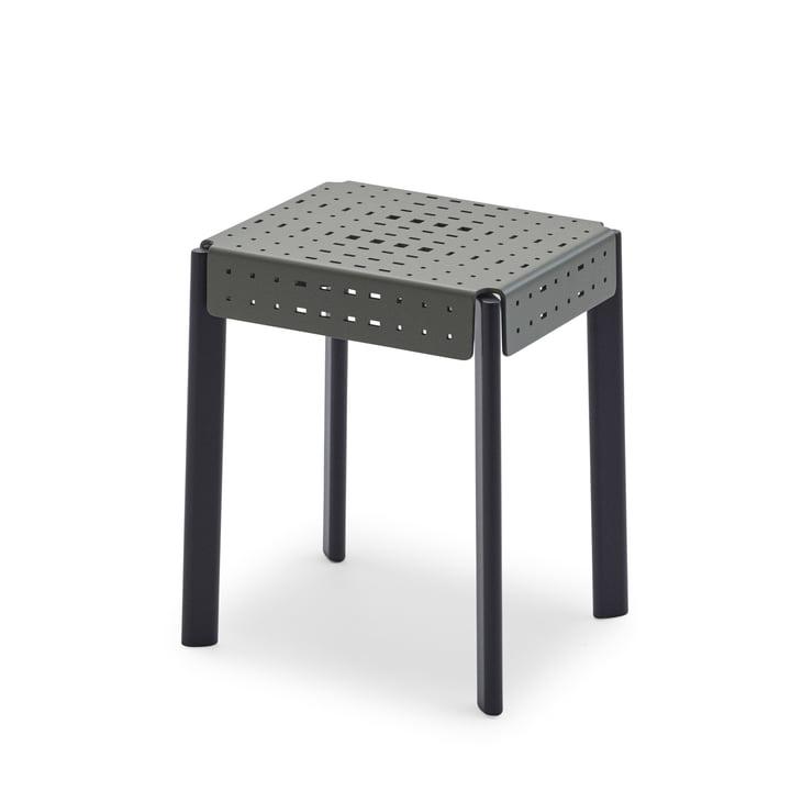 Gerda stool H 45 cm from Skagerak in grey green / black blue