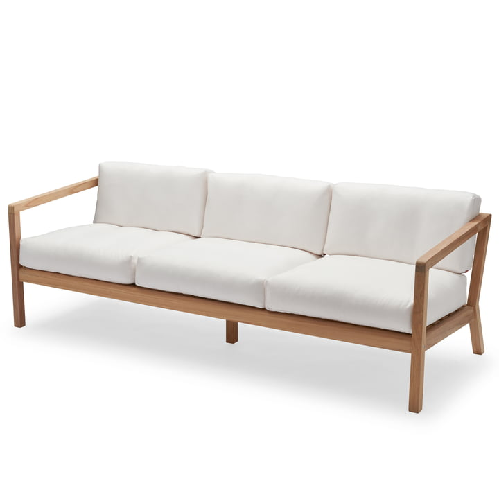 Virkelyst 3-seater sofa from Skagerak in teak / white