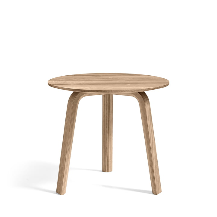 Bella Side table Ø 45 cm / H 39 cm, oak matt lacquered by Hay