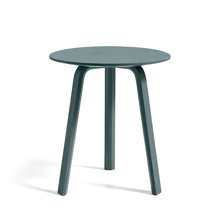 Bella Side table Ø 45 cm / H 49 cm, oak brunswick green stained by Hay