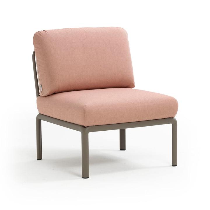 Komodo Modular sofa middle element, tortora / pink quarzo from Nardi