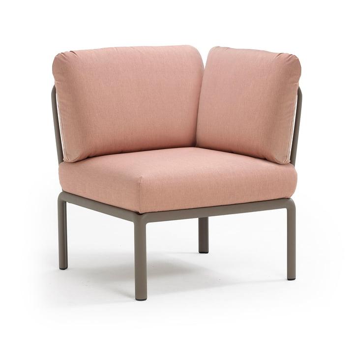 Komodo Modular sofa corner element, tortora / pink quarzo from Nardi