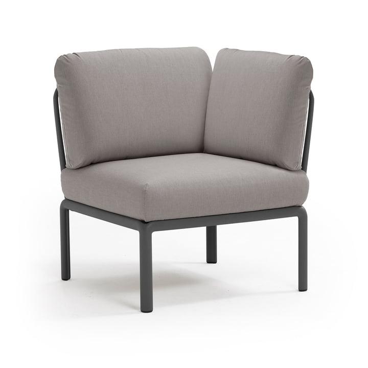 Komodo Module sofa corner element, anthracite / grey from Nardi