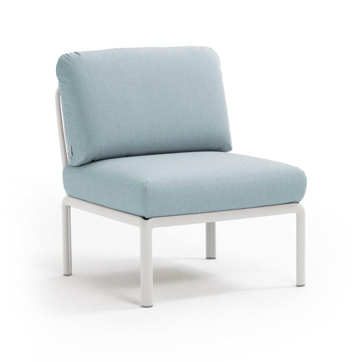 Komodo Module sofa middle element, white / ice blue from Nardi