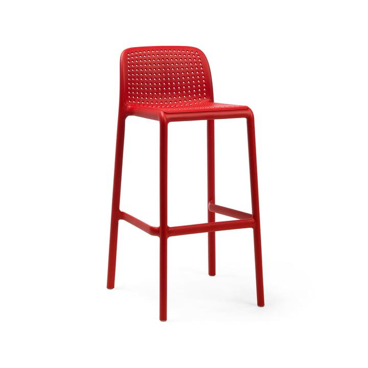 Lido Bar chair, red by Nardi