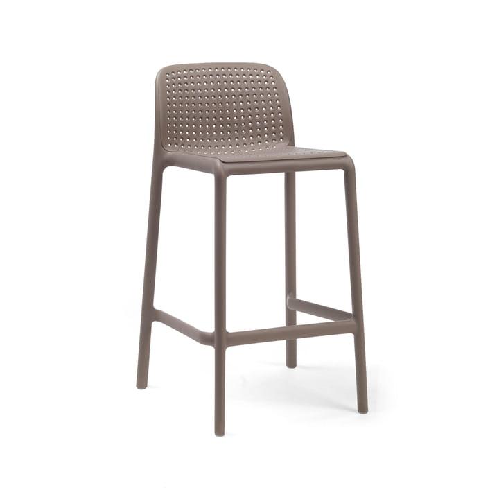 Lido Mini bar chair, tortora by Nardi