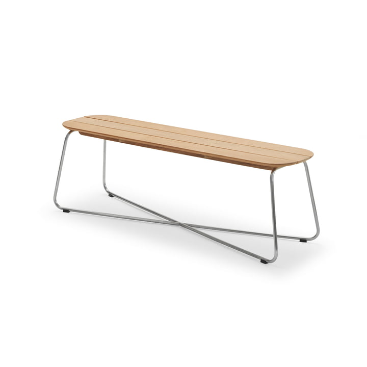 Lilium Bench, teak / stainless steel from Skagerak