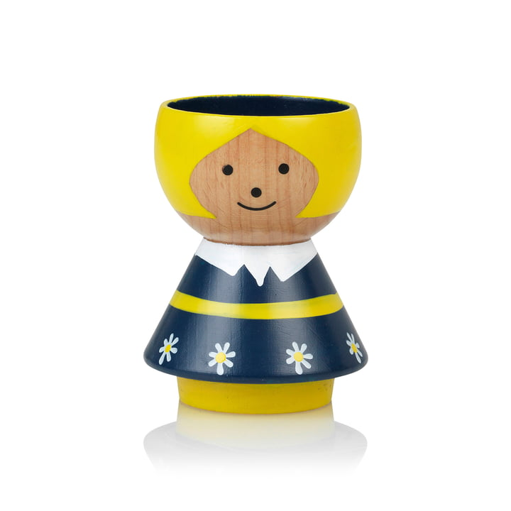 Bordfolk Egg cup girl from Lucie Kaas in blue