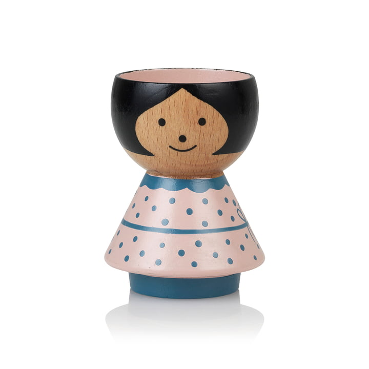 Bordfolk Egg cup girl from Lucie Kaas in pink
