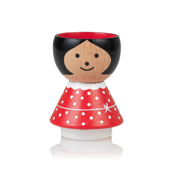 Bordfolk Egg cup girl from Lucie Kaas in red