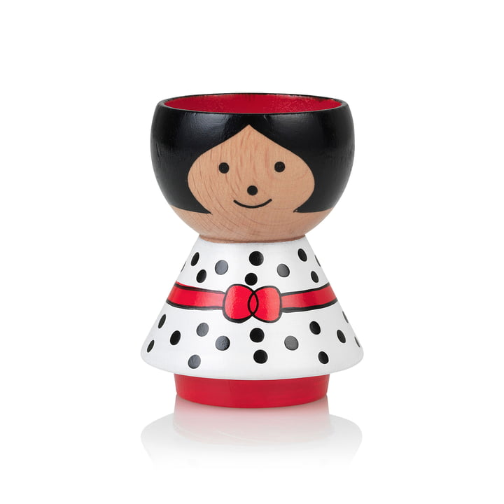 Bordfolk Egg cup girl from Lucie Kaas in white