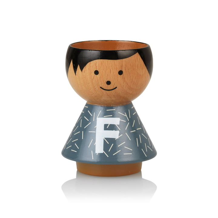 Bordfolk eggcup boy F from Lucie Kaas