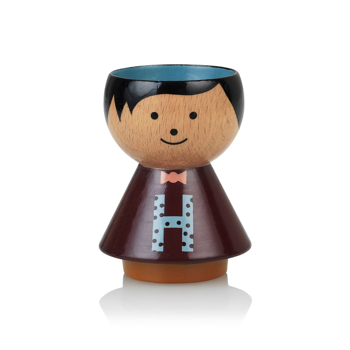Bordfolk eggcup boy H from Lucie Kaas