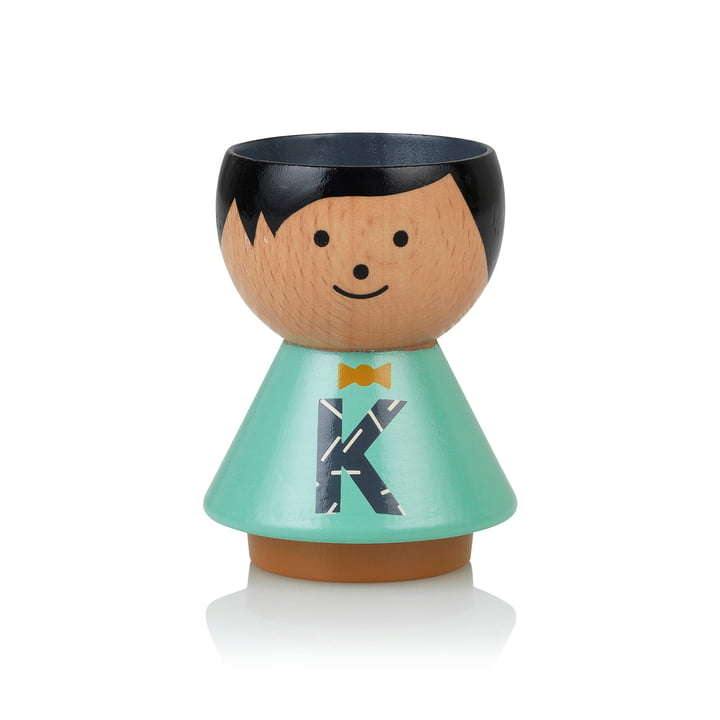 Bordfolk eggcup boy K from Lucie Kaas