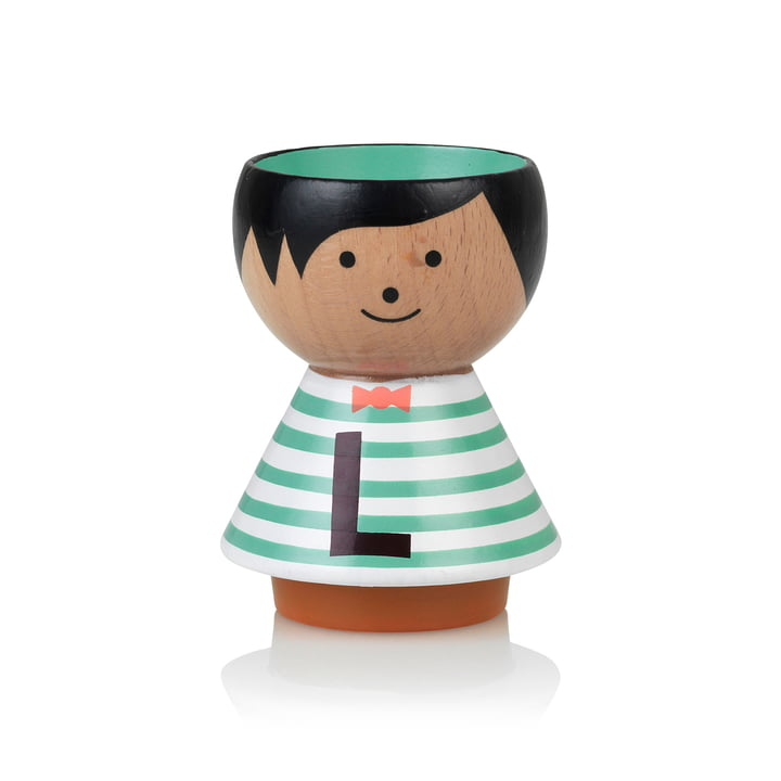 Bordfolk eggcup boy L from Lucie Kaas
