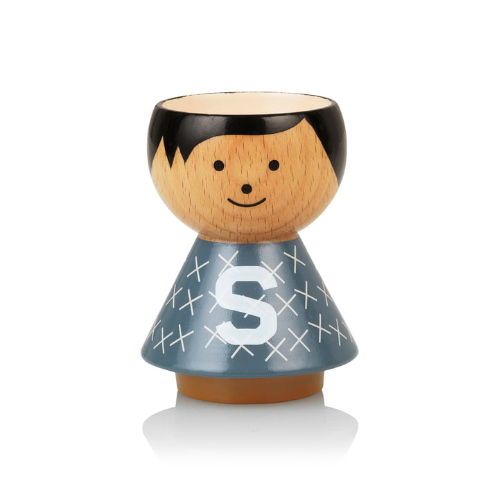 Bordfolk eggcup boy S from Lucie Kaas