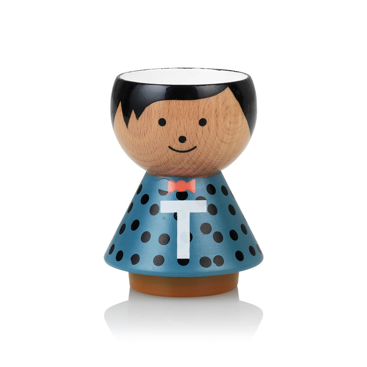 Bordfolk eggcup boy T from Lucie Kaas