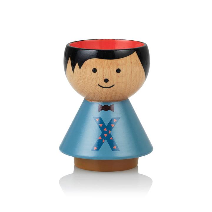 Bordfolk eggcup boy X from Lucie Kaas