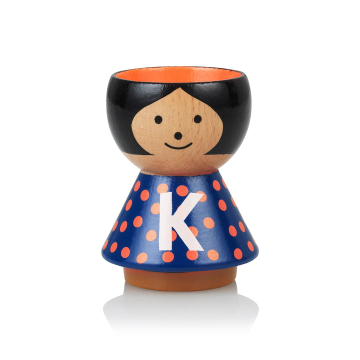 Bordfolk eggcup girl K by Lucie Kaas