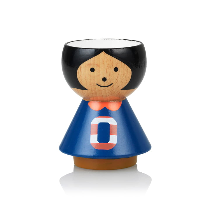Bordfolk eggcup girl O from Lucie Kaas