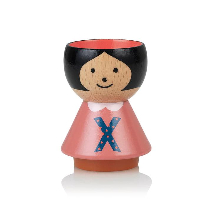 Bordfolk eggcup girl X by Lucie Kaas