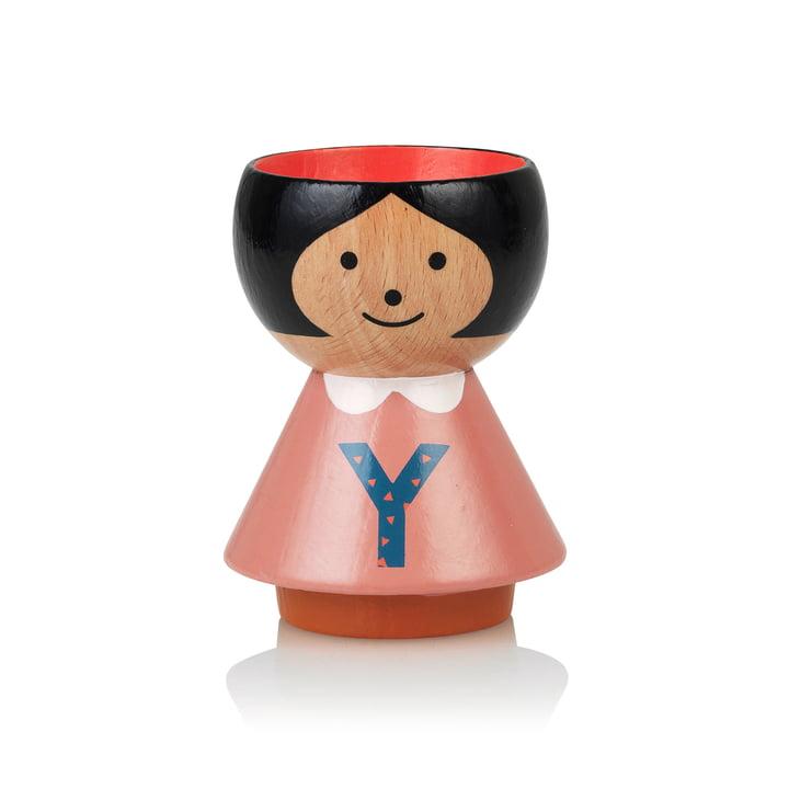 Bordfolk eggcup girl Y from Lucie Kaas