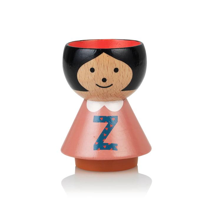 Bordfolk eggcup girl Z by Lucie Kaas