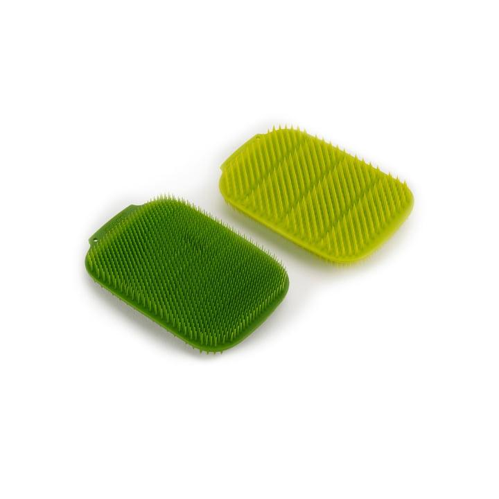 CleanTech Rinse sponge, green / dark green (set of 2) from Joseph Joseph