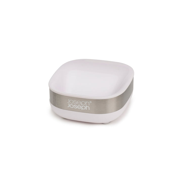Slim Steel soap dish, white from Joseph Joseph