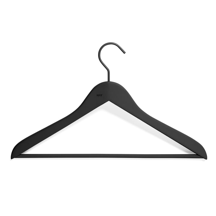 Soft Coat Slim Coat hanger with bar from Hay in black