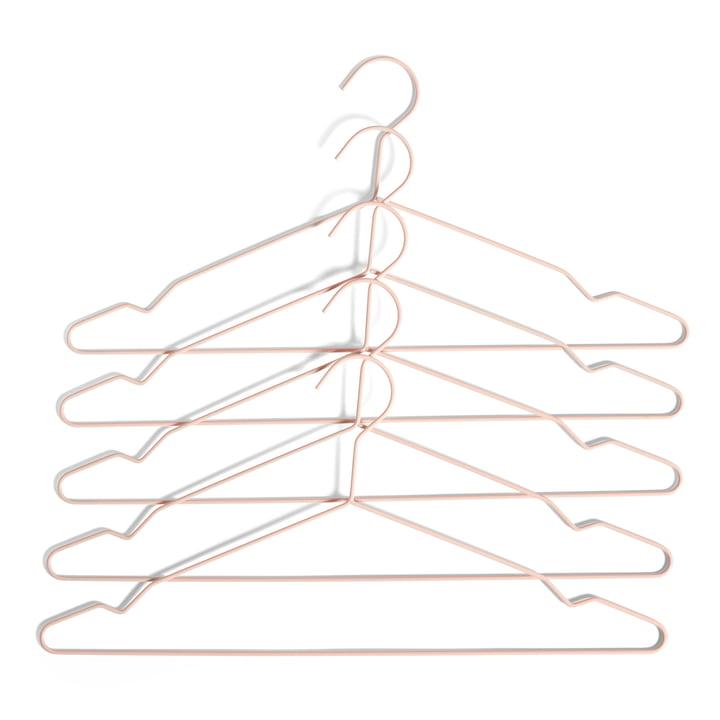 Hang hangers by Hay in peach (set of 5)
