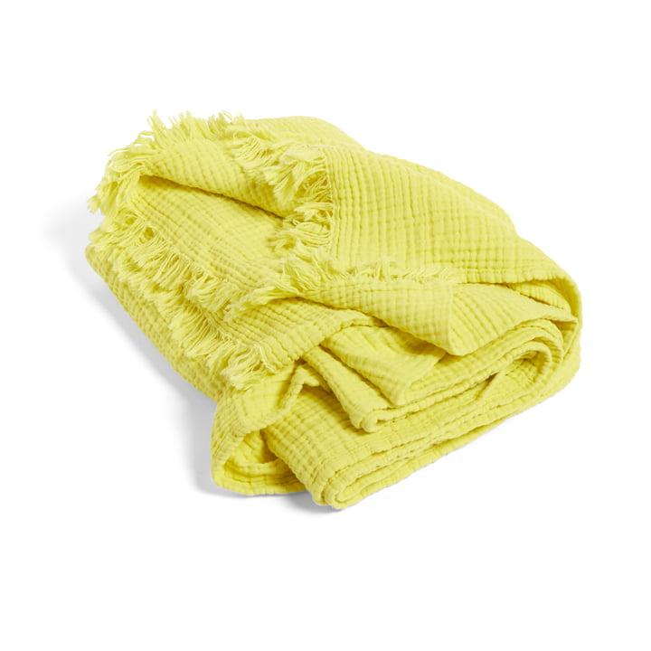 Crinkle Woollen blanket from Hay in yellow