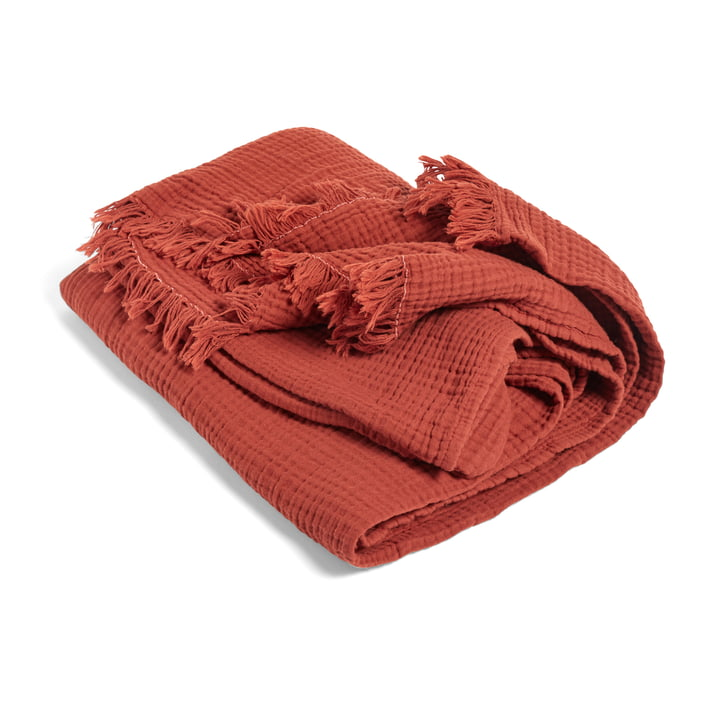 Crinkle Blanket from Hay in autumn red
