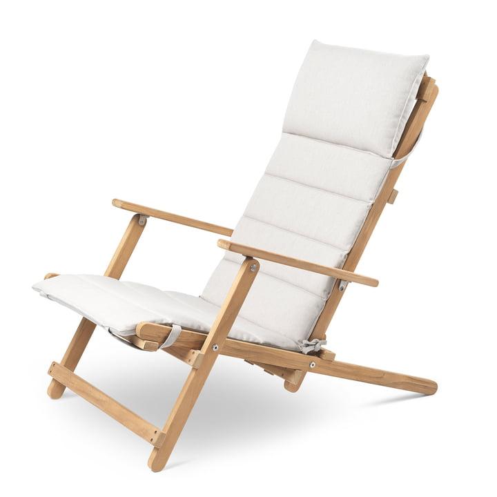 BM5568 Deckchair with cushions Carl Hansen in teak untreated