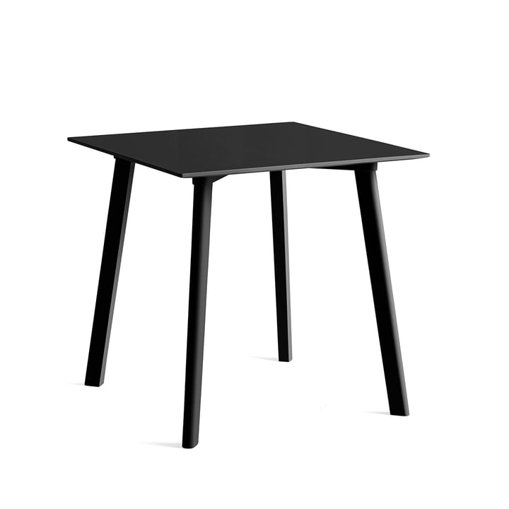 Copenhague CPH Deux 210 dining table 75 x 75 cm from Hay in beech stained black / black laminate
