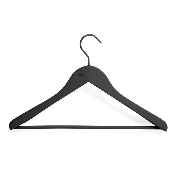 Soft Coat Coat hanger with bar from Hay in black