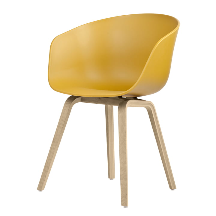 About A Chair AAC 22 from Hay in oak matt lacquered / mustard