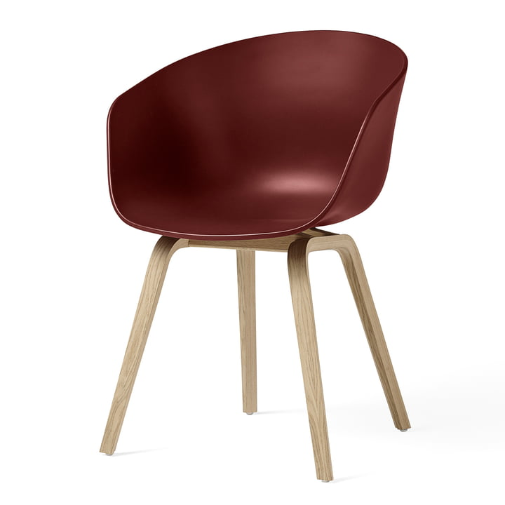 About A Chair AAC 22 from Hay in oak matt lacquered / brick