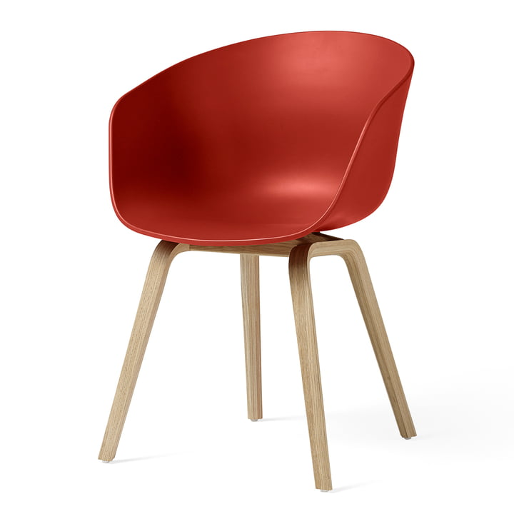 About A Chair AAC 22 by Hay in matt lacquered oak / warm red