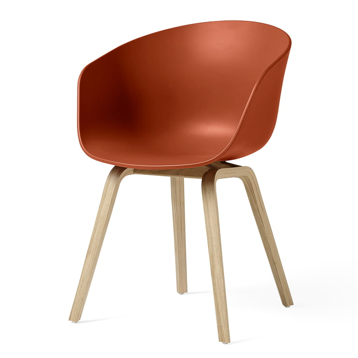 About A Chair AAC 22 by Hay in oak matt lacquered / orange