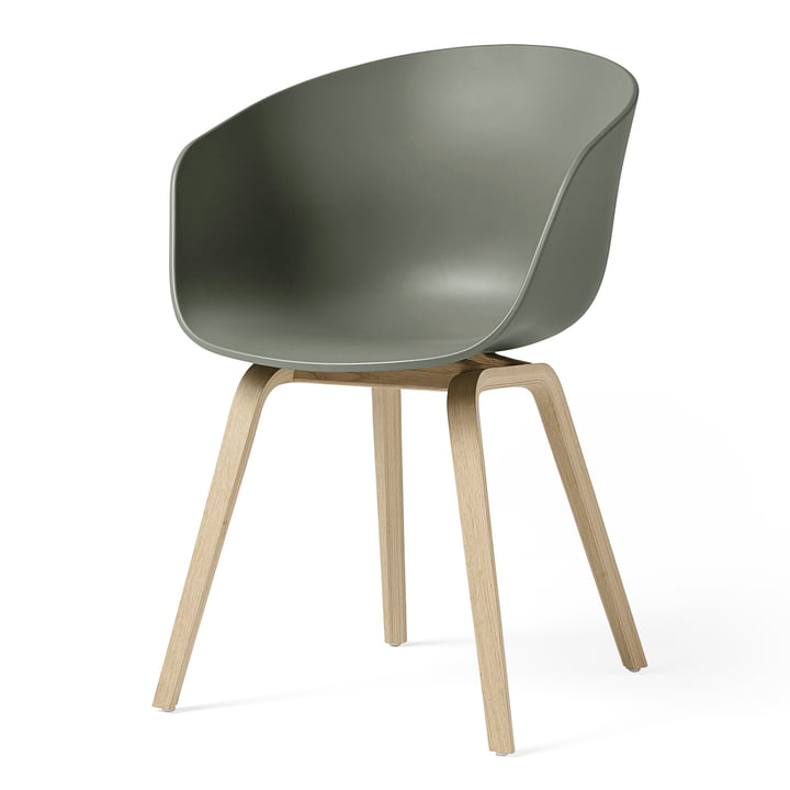 About A Chair AAC 22 from Hay in oak matt lacquered / dusty green