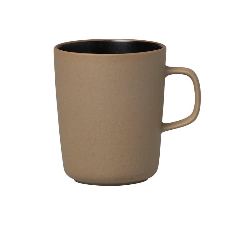 Oiva Cup with handle 250 ml from Marimekko in terra / black