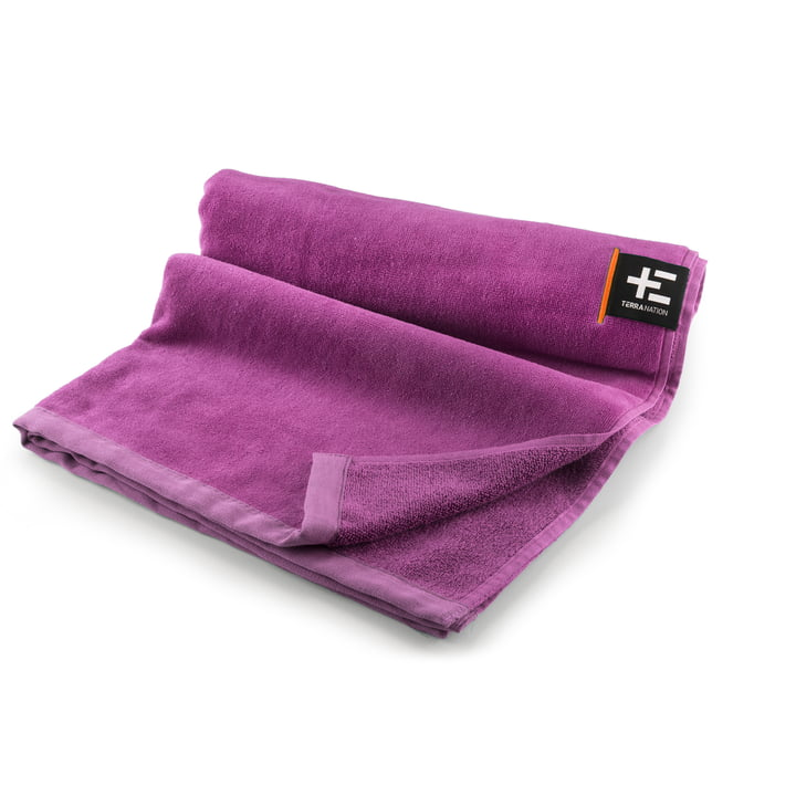 Kiva Moe beach towel 80 x 160 cm from Terra Nation in purple