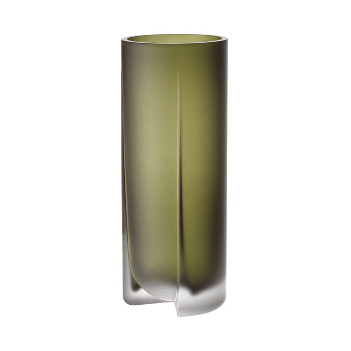 Kuru Vase 255 mm from Iittala in moss green