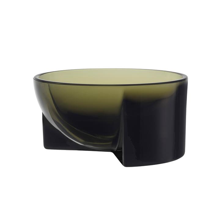 Kuru glass bowl 130 x 60 mm from Iittala in moss green