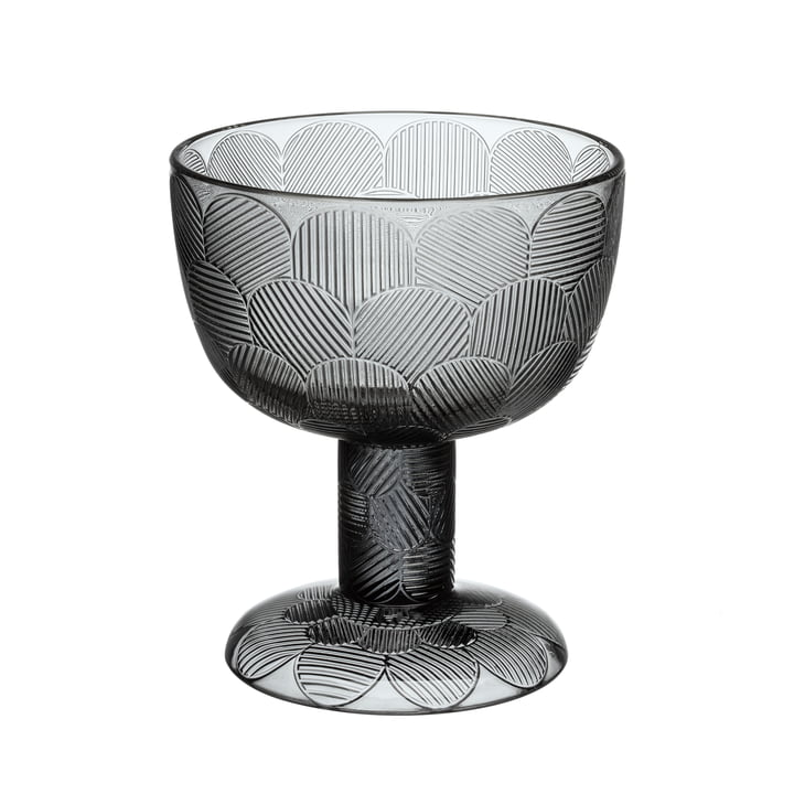 Miranda bowl on foot 145 mm from Iittala in grey