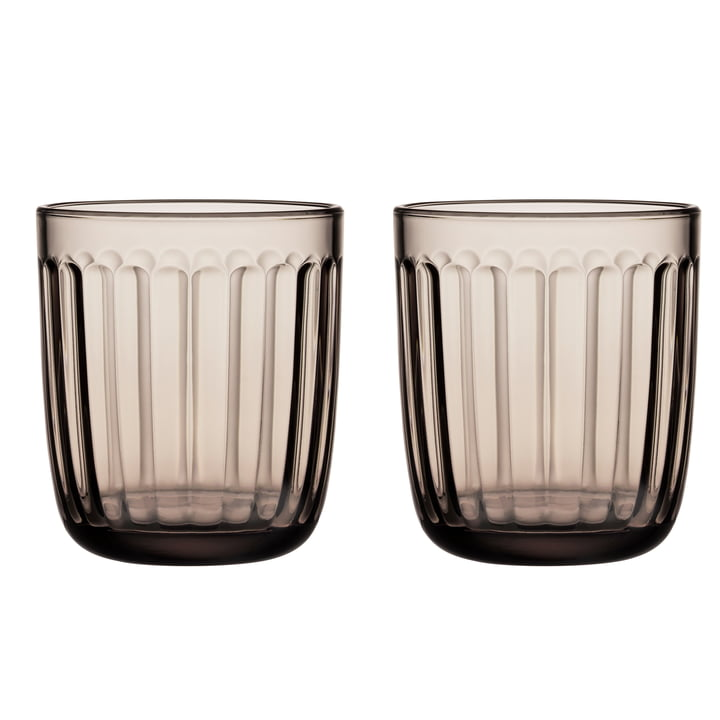 Raami drinking glass 26 cl from Iittala in linen (set of 2)