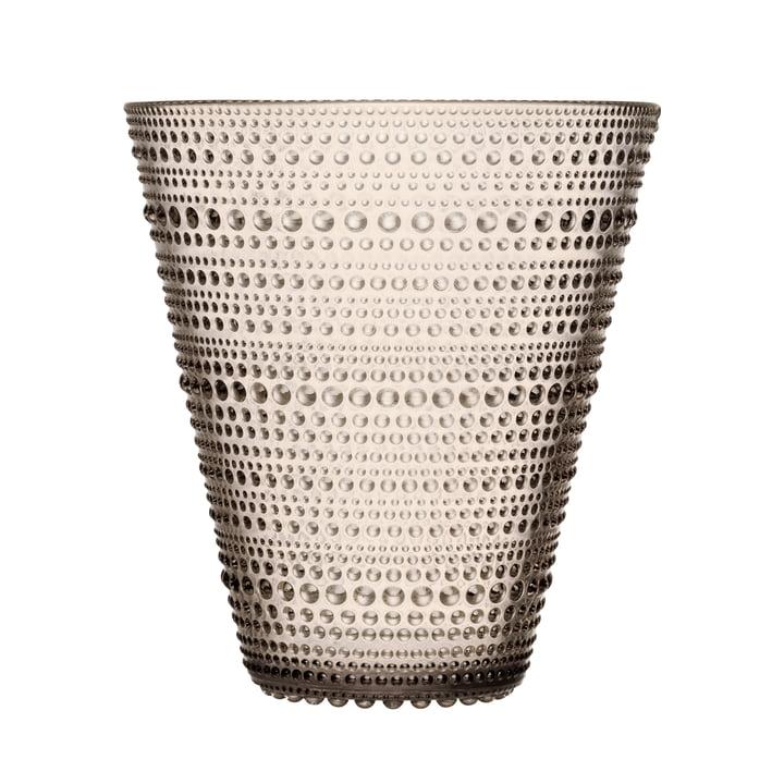 Kastehelmi Vase 154 mm, linen from Iittala