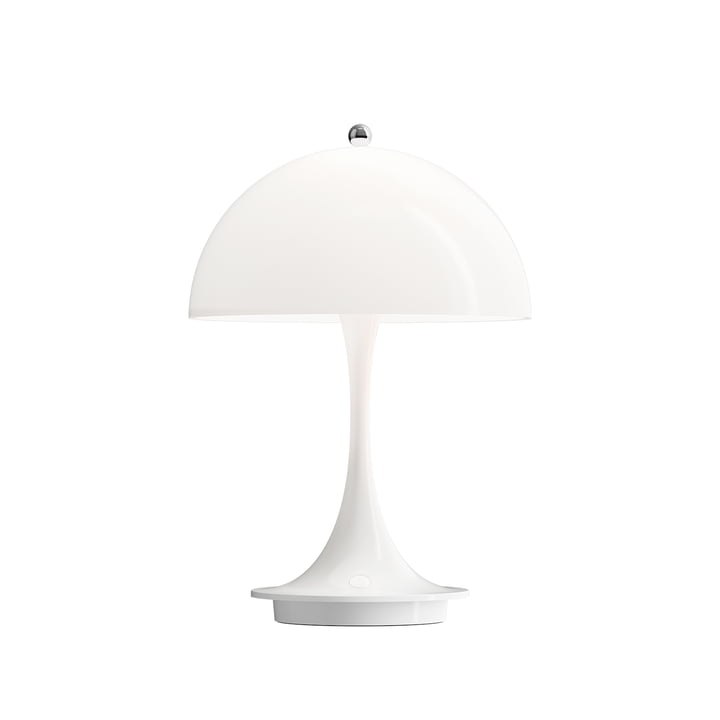 Panthella Portable Battery LED table lamp from Louis Poulsen in white